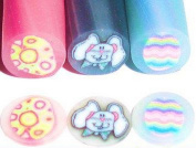 3 Rod/N Fimo 5 ° ° Easter Easter Bunny with Easter Eggs - # KEN25... The Excellent Nail Art for your nails.