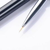 1pc Acrylic Liner Drawing Brush Nail Art Manicure Tool Crystal Handle #1