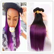 300g 70cm Brazilian Virgin Ombre Human Hair 8A Grade Cheap Two Tone 1B Purple Ombre Straight Human Hair Extensions