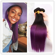 Malaysian Purple Hair Ombre Hair Extension 300g 80cm 1B and Purple Cheap Straight Hair Bundles
