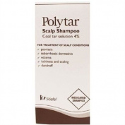 THREE PACKS of Polytar Scalp Shampoo 150ml