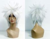Women's Wig Cosplay Wig For Manre Born. - Byak Uran Silver White 35 cm