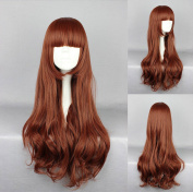 Women's Wig Cosplay Wig Brown Wavy With Straight Pony 75 cm