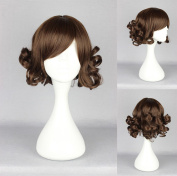 Women's Wig Cosplay Wig Dark Brown Curly Fringe with 30 cm