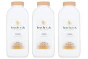 Femfresh Lightly Fragranced Absorbent Body Powder For Intimate Hygiene - 200G - Pack of 3
