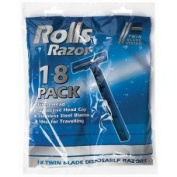 18 Twin Blade Disposable Razors