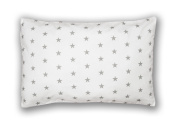 Decorative Pillowcase 40 cm x 60 cm Stars White