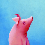 Happy Spaces Kids Wall Art Pig by Margot Curran Canvas Print