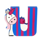 Orange Tree Toys : Wooden Letter U for Unicorn
