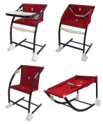 Bebe Style 'MeGrow' 4 In 1 Convertible Highchair + Rocker + Modern Chair ! Red