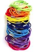 100 Coloured Thin Hair Elastics IN8710