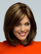 MARIAN Synthetic Hair Fashion Layered Bob Style Full Cap Daily Wig for women 1960s +A Free Wig Cap