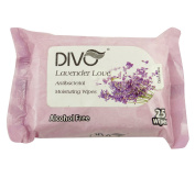 Divo Lavender Love Antibacterial Moisturing Facial Cleansing Wipes 25 Wipes x 2