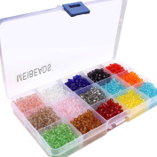 MEIBEADS Bling crystal Mixed Colour Faceted Bicone Crystal Glass Beads For Jewellery Making Findings with Container Box