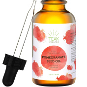 100% PURE POMEGRANATE SEED OIL by Teak Naturals - 100% Organic (Cold Pressed, Unrefined) - 30ml
