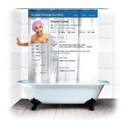 Newtripod Waterproof PVC Shower Curtain Bath Curtains
