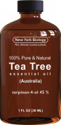 Tea Tree Oil (Australian) - 100% Pure & Natural - 45% Terpenin-4-ol - Triple Extra Quality Premium Therapeutic Grade - 30ml