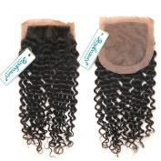 Rosabeauty Free Part Deep Wave Silk Base Top Closure 10cm x 8.9cm Natural Colour Bleached Knots Brazilian Virgin Human Hair Accessions