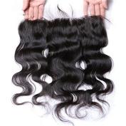 V'Nice® Body Wave 13x 4 Free Part Lace Frontal Natural Black Brazilian Virgin Hair