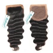 Rosabeauty Free Part Loose Wave Silk Base Top Closure 10cm x 8.9cm Natural Colour Bleached Knots Brazilian Virgin Human Hair Accessions