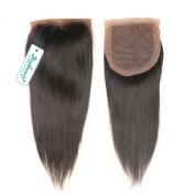 Rosabeauty Free Part Silky Straight Silk Base Top Closure 10cm x 8.9cm Natural Colour Bleached Knots Brazilian Virgin Human Hair Accessions
