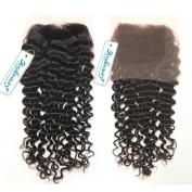 Rosabeauty Free Style Brazilian Hair Lace Closure Deep Wave Bleached Knots Grade 6A Swiss Lace 10cm *8.9cm 100% Human Hair Lace Top Closure