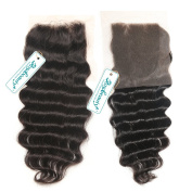 Rosabeauty Free Style Brazilian Hair Lace Closure Loose Wave Bleached Knots Grade 6A Swiss Lace 10cm *8.9cm 100% Human Hair Lace Top Closure