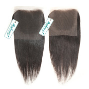 Rosabeauty Free Style Brazilian Hair Lace Closure Straight Bleached Knots Grade 6A Swiss Lace 10cm *8.9cm 100% Human Hair Lace Top Closure
