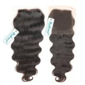 Rosabeauty Free Style Brazilian Hair Lace Closure Body Wave Bleached Knots Grade 6A Swiss Lace 10cm *8.9cm 100% Human Hair Lace Top Closure