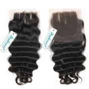 Rosabeauty Lace Closure 3 Part Loose Wave Bleached Knots Swiss Lace 10cm *8.9cm Length 20cm to 46cm 100% Natural Colour Unprocessed Hair