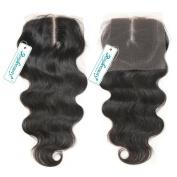 Rosabeauty Bleached Knots Brazilian Virgin Hair Lace Closure Body Wave 100% Human Hair Top Closure Middle Part Swiss Lace 4*3.5