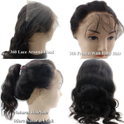 Atina Hair Custom 360 Frontal Band With More Authetic Natural Hairline Malaysian Body Wave Human Hair 360 Lace Frontal Closure