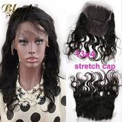 Black Rose Hair New Human Hair Product 360 Circular Closure Natural Firm Fit High ponytail Easy Part Anywhere 130% Density 360 Lace Band Frontals Body Wave With Stretch Cap 60cm Natural colour