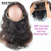 Black Rose Hair New Custom Brazilian Virgin Human Hair Body Wave 360 Lace Band Frontals Back Lace Frontal Closure With Natural Hairline Baby Hair For Black Women 30cm