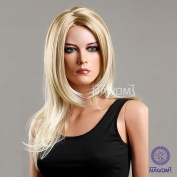 AABABUY New Long Straight Hair Wig Curly Golden Wig Women Wig Fashion Europe Women Wig Carve Repair-Face Wig Synthetic Wig