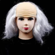 Halloween party old man bald head wig
