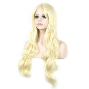 High quality stylish blond long curly hair high temperature synthetic wigs