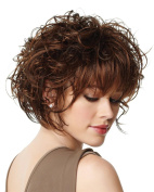 Fluffy Short Curly Brown, Real Fashion Ladies Wig