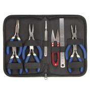 BephaMart 9Pcs/Set Mini Flat Long Round Nose Pliers Jewellery Making Beading Tools Kit