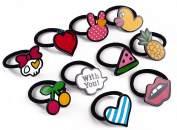 AlphaAcc Boutique Hair Bows Elastic Tie Ponytail Holder for Teens Women Girls HB1682409