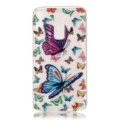 BLT® LG K7 Happy Buterfly Case, Soft Durable Case Cover Skin for LG K7 with a Phone Bracket