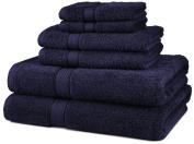 DIA 6-Piece Egyptian Cotton Towel Set - Navy