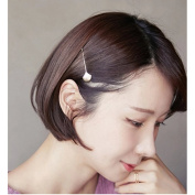Joyci 2pcs Korean pure clip fashion imitation shell crystal hairpin.
