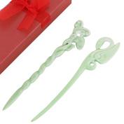 kilofly 2pc Chinese Style Women Girls Porcelain Accessories Hair Pin Sticks Set