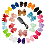 Hair Bows , Ambielly Baby Girl Headbands Grosgrain Ribbon Large Boutique Hair Bows Alligator Clips For Teens Kids