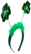 Capelli New York Ladies Happy St. Patrick's Day Glitter Headband Green One Size