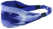 Capelli New York Ladies Jersey Tie Dye Head Wrap Blue One Size