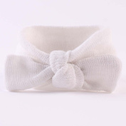 Shineweb Baby Girl Newborn Bowknot Striped Headband Soft Elastic Hair Band Headwear
