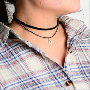 Aukmla Hexahram Pendant Choker Necklace Jewellery for Women and Girls