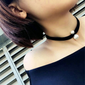 Aukmla Bead Pentdant Choker Necklace Jewellery for Women and Girls